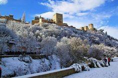 Nieve en La Alhambra