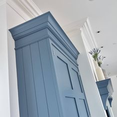 The blues in our colour palette work sympathetically with the rest of our neutrals, allowing you to use them as either one block colour or as an accent. When it comes to your design, we blend our unique paint colours and then assess where they work best before committing a single brushstroke to your cabinetry. We look at where natural light comes into the room, consider the style of furniture that you've chosen and discuss where features or statement pieces of furniture will sit.