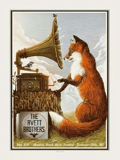Avett Brothers Rochester Hills Zeb Love Poster World Premiere & Neil Young… Love Posters, Band Posters, Music Posters, Retro Posters, Vintage Posters, Neil Young, Fox Totem, Fantastic Fox, Kunst Poster
