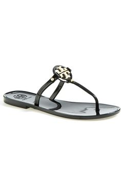 eb873d03a3d545 Tory Burch  Mini Miller  Flat Sandal (Women) available at  Nordstrom Black