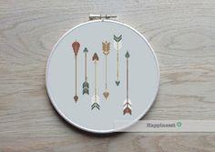 Cross stitch pattern arrows aztec arrows native by Happinesst