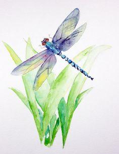 Pintura de libélula por MarilynKJonas en Etsy