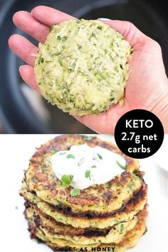 Crispy Keto Fritters with zucchini #zucchinifritters #ketofritters #ketorrecipes #fritters #healthy #easy #glutenfree Low Carb Keto, Low Carb Recipes, Bread Recipes, Soup Recipes, Comida Keto, Keto Diet Breakfast, Breakfast Recipes, Vegetarian Keto, Paleo