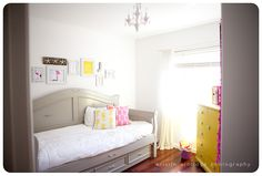 love the citron. jeweled knobs. grey bed. chandie. pictures....did i leave anything out?