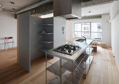 *콘크리트 인테리어 아파트 [ FrontOffice ] small Tokyo apartment :: 5osA: [오사]