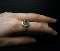 Silver Gold Ancient Greek Coin Goddess Athena Ring Signet Teacher Mentor Appreciation Gifts Mom Gift Graduation for Her Daughter Sister