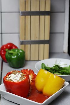 low carb – gefüllte Paprika