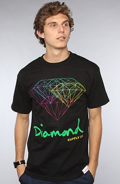 The All For One Tee in Black by Diamond Supply Co.