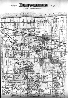 Map of Brownhelm Township, 1874