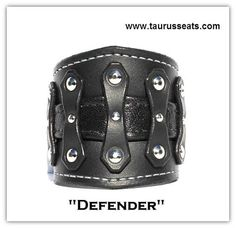 Black Leather Cuff Bracelet, Wristband, Unisex with Chrome Rivets and Leather Insert,  Motorcycle Accessory, Bikers Cuff with Chrome Rivets