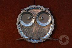 repurposed garden decor -owl
