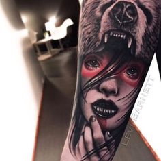 Mindblowing Tattoo Designs for Girls In 2020 30 Mind Blowing Bear Girl Tattoos Quote Tattoos Girls, Girl Arm Tattoos, Upper Arm Tattoos, Tattoo Girls, Cool Tattoos, Tatoos, Sweet Tattoos, Tattoo Designs For Girls, Best Tattoo Designs