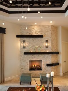 15 Relaxed Transitional Living Room Designs To Unwind You 15 Relaxed Transitional Living Room Designs To Unwind You The post 15 Relaxed Transitional Living Room Designs To Unwind You appeared first on Wandgestaltung ideen. Home Fireplace, Fireplace Remodel, Modern Fireplace, Fireplace Design, Fireplace Ideas, Stacked Stone Fireplaces, Basement Fireplace, Fireplace Brick, Custom Fireplace