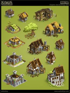 """Kings & Warlords"" (game) - Environment assets, Andrea Fryer"