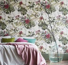 Seasons-Summer-Tropical-Bloom - wallpaper - interior - colour - floral
