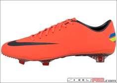Nike Mercurial Vapor VIII Firm Ground Soccer Cleat - Bright Mango with Challenge Red....$197.99