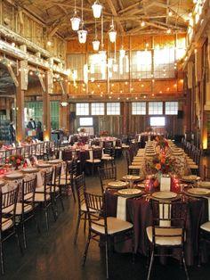 Banquet centerpieces by Christopher Flowers, Seattle. Venue: Sodo Park