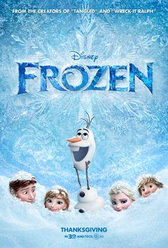 Disney Frozen Movie Poster SO SO SO SO SO EXCITED FOR THIS AHHHHHHHHH