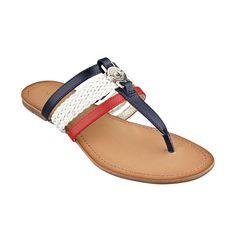 Tommy Hilfiger Women's Liz Thong Sandals - All Women's Shoes - Shoes - Macy's Cute Sandals, T Strap Sandals, Shoes Sandals, Flip Flop Shoes, Embellished Sandals, Tommy Hilfiger Women, Pretty Shoes, Hot Shoes, Avon