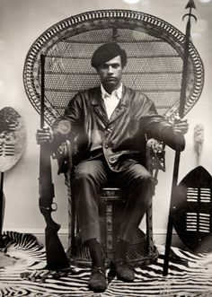 Black Panther Leader Huey Newton. 1969.