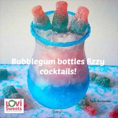 These bubblegum bottles cocktails will knock your socks off! Click to get the full recipe...