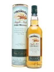 TYRCONNELL SINGLE MALT IRISH WHISKEY: A single malt Irish whiskey from the Cooley distillery, Tyrconnell is incredibly creamy and smooth.  The nose is sweet and crisp with orchard fruits and a malty character. Oaked dryness and an oily note. The palate is full and sweet with barley malt and hot buttered granary toast with honey. The finish is dry and grassy with a little spice.