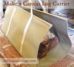 canvas-log-carrier
