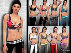8 outfit in 1 package. Design by Saliwa. Have fun! Found in TSR Category 'Sims 4 Female Athletic'