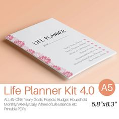 """LIFE PLANNER Printable A5 (5.83"""" x 8.27"""") Filofax a5 Inserts Daily Weekly Monthly Project Menu Budget Instant Download 80 Printable Pages by EasyLifePlanners on Etsy"""