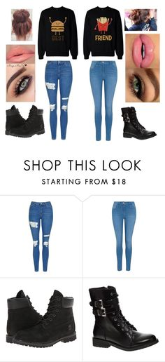 """Lunch with your best friend"" by acma-1 ❤ liked on Polyvore featuring Topshop, George, Timberland and Shellys"