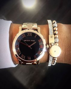 BACK TO BLACK...... Black on rose gold MICHAEL KORS ladies watch (50-49-0260) £209 pictured with MK bangle (60-42-0187) £115 & MK bracelet (60-42-0166) £79......RRP FOR ALL THREE ITEMS £403, SPECIAL FB DISCOUNT £320!! CALL 02838988552 /02838988483 IF YOU WOULD LIKE TO PURCHASE!  HAVE FAITH IN FAITH! ❤