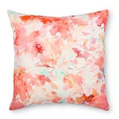 "Water Color Print Pillow (18""x18"") Multicolor - Xhilaration™"