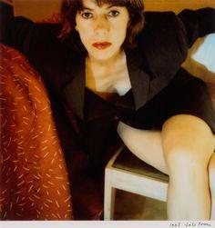 Signed self-portrait by Toto Frima, an original Polaroid print