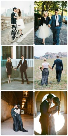 What to Wear for Your Engagement Photos: Black Tie Inspiration