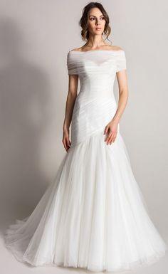 Wedding dress idea; Featured Dress: Suzanne Neville