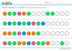 colorear series logicas 3 #niños #ejercicios