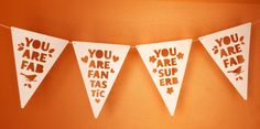DIY Compliment Bunting, How About Orange