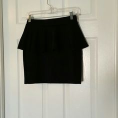 Selling this Black Peplum Skirt in my Poshmark closet! My username is: ccatalina. #shopmycloset #poshmark #fashion #shopping #style #forsale #Divided #Dresses & Skirts