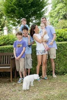 Prince Joachim and his family is still in Cayx. Family as she posed for a photo shoot. It turns out that to Marie, Joachim, Henrik and Athena joined by two sons from his first marriage of Prince - Felix and Nicholas.