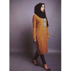 Mustard Cocoon Midi | INAYAH www.inayahcollection.com #inayah#modestfashion#midishirt