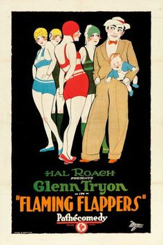 poster for 1925's Flaming Flappers