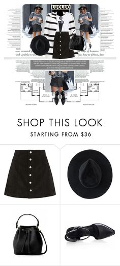 """1334.Style's Tip: How to wear a Suede Skirt?"" by marymary91 ❤ liked on Polyvore featuring Paul Frank, AG Adriano Goldschmied, Ryan Roche, Miu Miu, women's clothing, women, female, woman, misses and juniors"