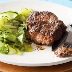 Spicy pork neck and cucumber salad Braai Recipes, Barbecue Recipes, Roast Recipes, Steak Recipes, Healthy Recipes, Healthy Meals, Lamb Ribs, South African Recipes, Pork Roast