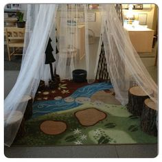 Dramatic play area: Transforming our Learning Environment into a Space of Possibilities: Reggio Emilia Inspiration Classroom Layout, Classroom Setting, Classroom Design, Classroom Themes, Classroom Organization, Space Classroom, Classroom Displays, Classroom Management, Reggio Emilia Classroom
