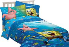 Nickelodeon Sponge Bob Fish Swirl Comforter, Twin/Full by Nickelodeon. Save 50 Off!. $29.88. Fun pattern featuring Sponge Bob and Patrick on 100-percent polyester microfiber. Machine wash cold Non-chlorine bleach when necessary Tumble dry low Do not iron. Twin/Full Comforter is 72-inch x 86-inch. Join Sponge Bob and Patrick as the play with the fishes under the sea. This 100-percent polyester microfiber bedding pattern is soft and the colors are vibrant. The Twin/Full 72-inchx86-inch C...