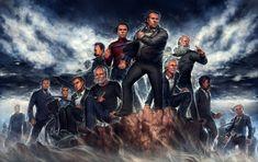 Champions of Reason -- From left to right: John Cleese, Penn Jillette, Bill Nye, Stephen Hawking, (above) Frederick Nietzsche, (below) George Carlin, Carl Sagan, Christopher Hitchens, Richard Dawkins, Charles Darwin, Neil DeGrasse Tyson, Adam Savage, Michio Kaku.