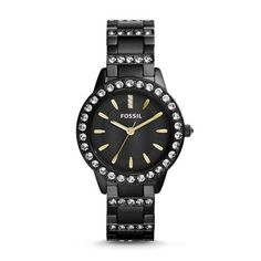 Sale  Jesse Three-Hand Stainless Steel Watch - Black For the girl who likes a little substance with her shine, we've designed our must-have Jesse watch in bold black steel accented with over 60 clear stones on the case, bracelet and dial.