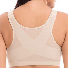 6ba8b89231  US 13.40  Front Closure Shockproof Adjustable Strap Buckle Yoga Sports Bra   front