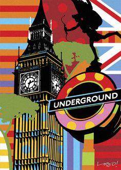 UNDERGROND | LONDON | LOBO | POP ART www.lobopopart.com.br