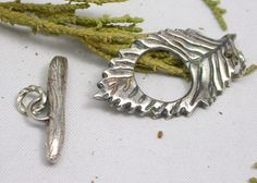Silver Leaf or Starry Night Silver Toggle Clasp by superfluityshop, $30.00